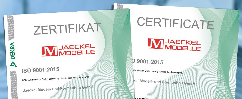 Zertifikate nach DIN EN ISO 9001:2015