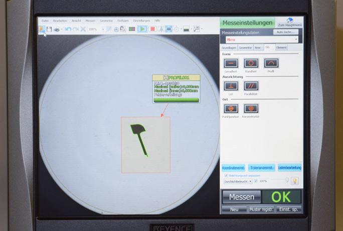 Optisch-digitaler Messprojektor